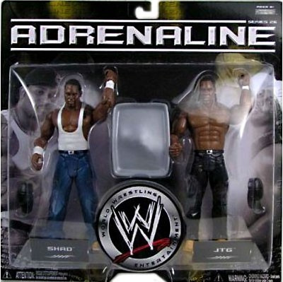 WWE Wrestling Adrenaline Series 26 Shad & JTG Action Figu...