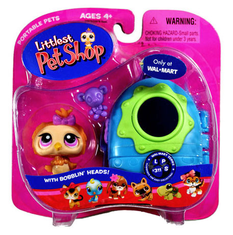 Hasbro Littlest Pet Shop Portable Pets Owl Exclusive Figu...
