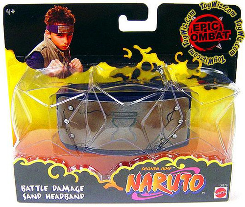 Mattel Naruto Epic Combat Battle Damage Sand Headband Rol...