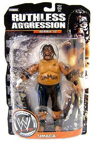 JAKKS WWE Wrestling Ruthless Aggression Series 32 Umaga A...