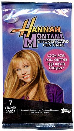 Topps Disney Hannah Montana Sticker Cards Fun Pack