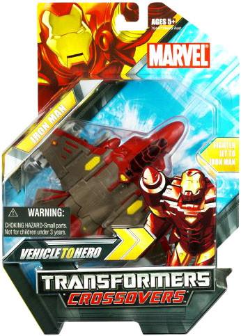Hasbro Marvel Transformers Crossovers Iron Man Action Fig...