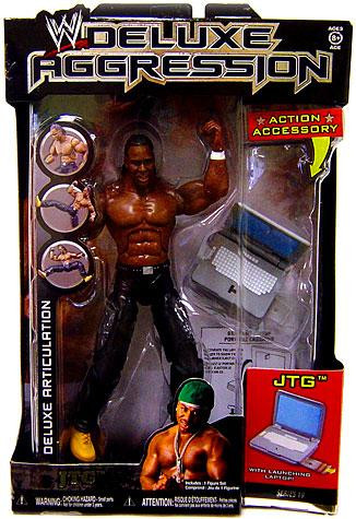 WWE Wrestling Deluxe Aggression Series 19 JTG Action Figure
