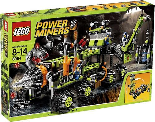 Lego Power Miners Titanium Command Rig Set #8964