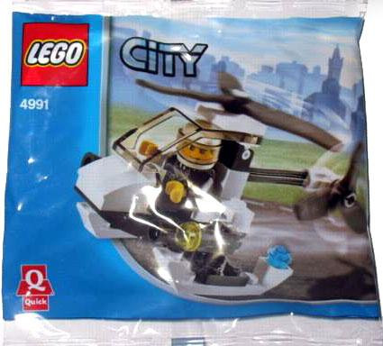 Lego City Police Helicopter Mini Set #4991 [Bagged]