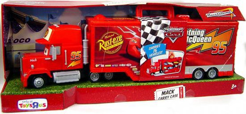 Disney Cars Race O Rama Mack Carry Case Exclusive Playset Mattel