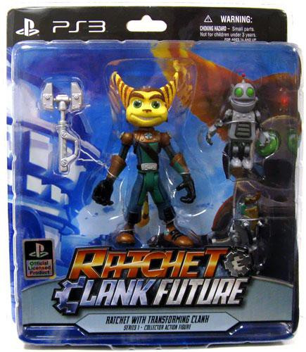 ratchet and clank future series 1 ratchet transforming clank action figure 2 pack dc direct toywiz. Black Bedroom Furniture Sets. Home Design Ideas