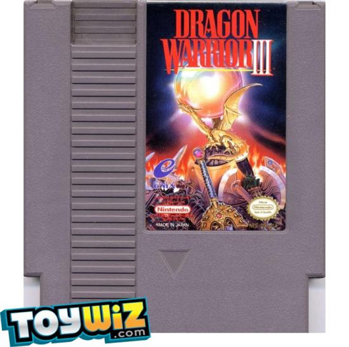 Nintendo NES Dragon Warrior III Video Game Cartridge [Played Condition]