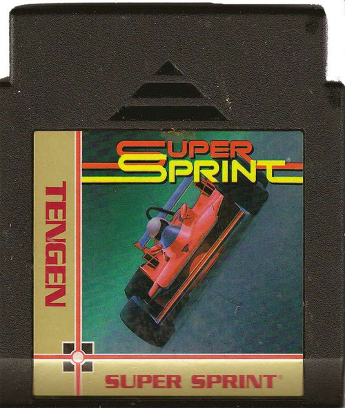 Tengen Nintendo NES Super Sprint Video Game Cartridge [Pl...