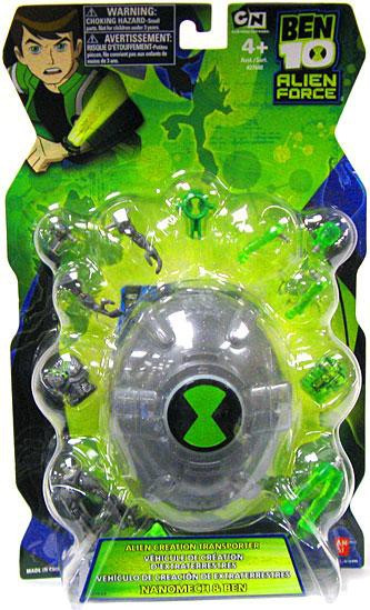 ben 10 alien force alien creation transporter set silver
