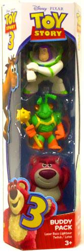 Mattel Toy Story 3 Lotso, Laser Buzz Lightyear & Twitch M...