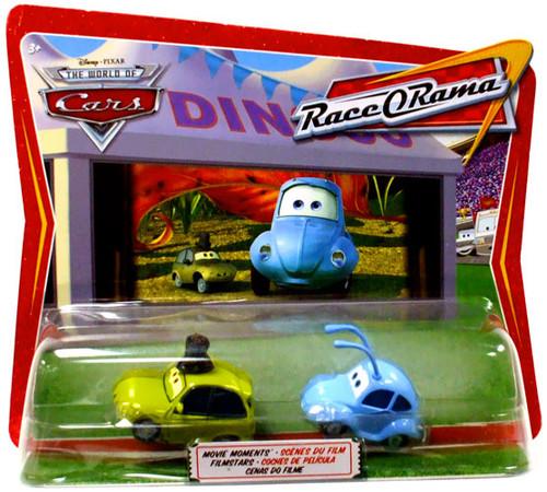 Mattel Disney Cars Race-O-Rama Flik & PT Flea Diecast Car...