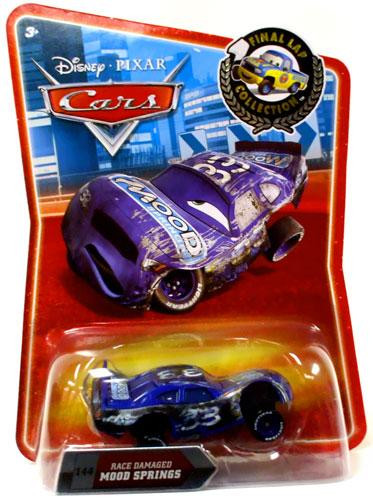 Cars Movie Toys : Disney cars final lap collection race damaged mood springs