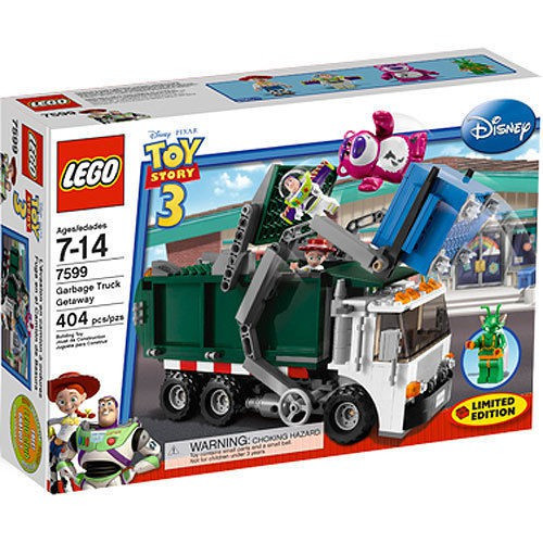 Lego Toy 3 : Lego toy story garbage truck getaway exclusive set