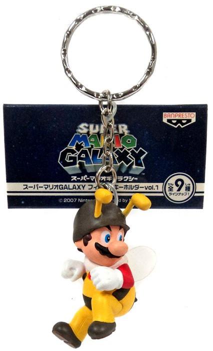 Banpresto Super Mario Galaxy Mario 1.5-Inch Keychain [Bee]