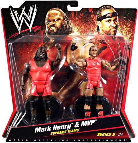 WWE Wrestling Series 6 MVP Mark Henry Action Figure 2 Pack Mattel Toys