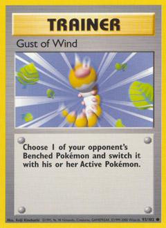 Wizards Of The Coast Pokemon Base Set Common Gust of Wind...