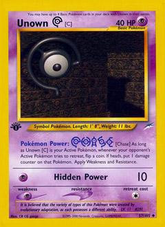 Wizards Of The Coast Pokemon Neo Destiny Uncommon Unown [...
