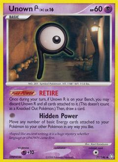 Pokemon Diamond & Pearl Legends Awakened Uncommon Unown R...
