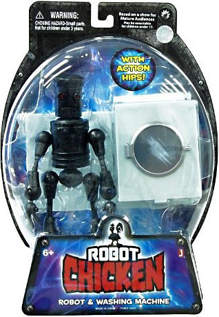Jazwares Robot Chicken Robot & Washing Machine Action Figure