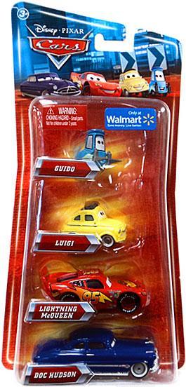 Mattel Disney Cars Multi-Packs Guido, Luigi, McQueen & Do...