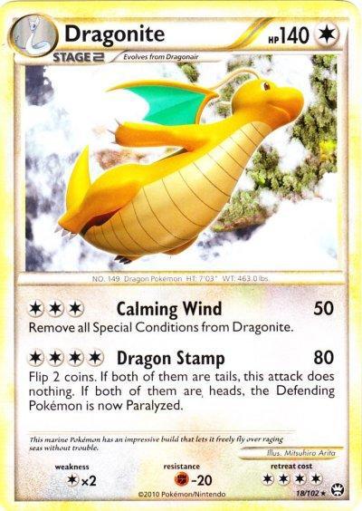Pokemon HeartGold & Soulsilver Triumphant Rare Dragonite #18