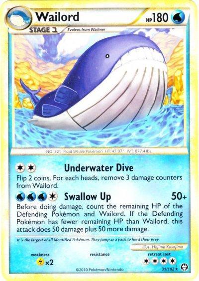 Pokemon HeartGold & Soulsilver Triumphant Rare Wailord #31