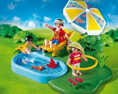 Playmobil vacation leisure wading pool compact set set for Piscine playmobil