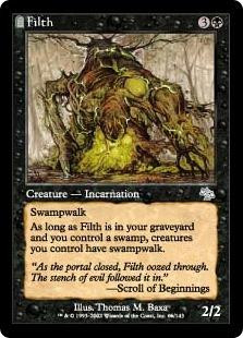 Wizards Of The Coast MtG Judgment Uncommon Filth #66