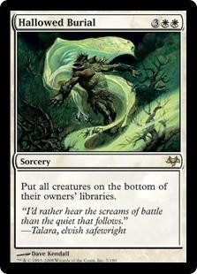 Wizards Of The Coast MtG Eventide Rare Hallowed Burial #7