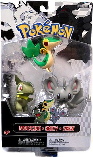 Pokemon Black & White Series 2 Basic Minccino, Snivy & Ax...