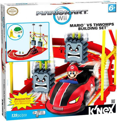 knex super mario mario kart wii mario vs thwomps set 38465 toywiz. Black Bedroom Furniture Sets. Home Design Ideas