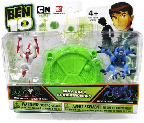 Bandai Ben 10 Way Big & Spidermonkey 2.5-Inch Mini Figure...
