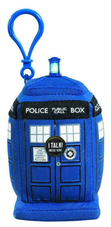 Underground Toys Doctor Who Tardis 4-Inch Plush Clip On