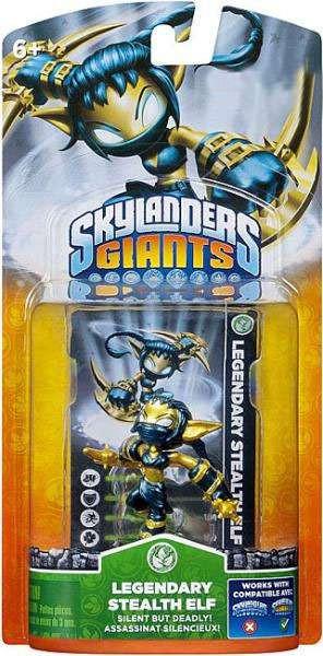 Activision Skylanders Giants Legendary Stealth Elf Figure...