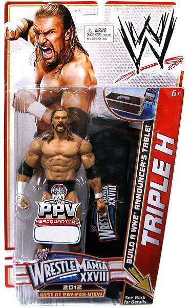 wwe wrestling best of ppv triple h action figure mattel toys