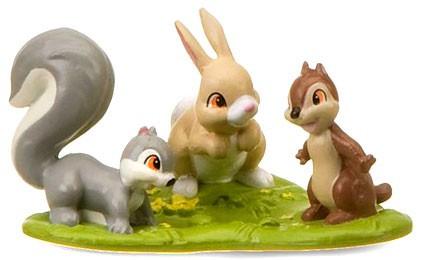 Disney Snow White Bunny, Squirrel & Chipmunk Exclusive 3-...