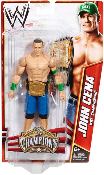 wwe wrestling champions john cena exclusive action figure mattel toys