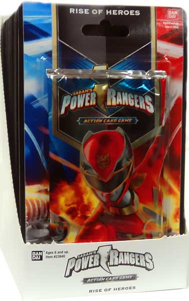 Bandai Power Rangers Action Card Game Rise of Heroes Boos...