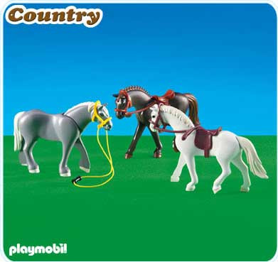 Playmobil country 3 horses ii set 6257 toywiz - Pferde playmobil ...