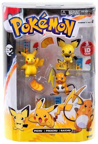 Pokemon Black White Evolution Pichu, Pikachu Raichu Figure ... Pichu Pikachu Raichu Rap