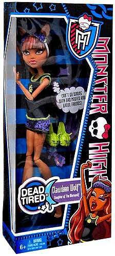 Mattel Monster High Dead Tired Clawdeen Wolf 10.5-Inch Doll
