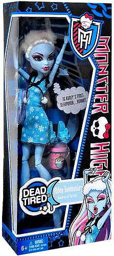 Mattel Monster High Dead Tired Abbey Bominable 10.5-Inch ...