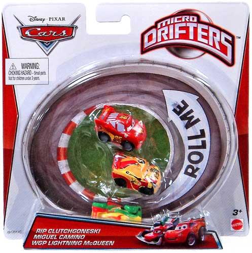 Mattel Disney Cars Micro Drifters Rip Clutchgoneski, Migu...