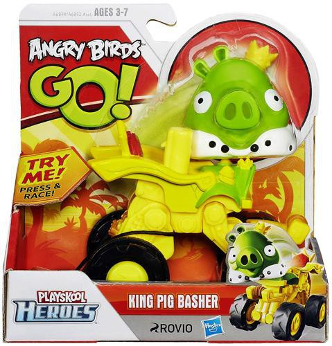 Angry Birds Go Toys : Angry birds go playskool heroes king pig basher mini
