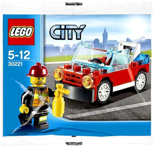 Lego City Fire Car Mini Set #30221 [Bagged]