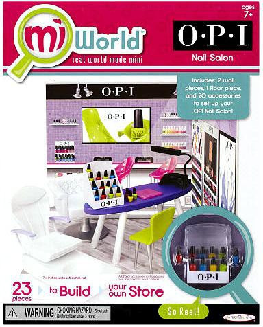 MiWorld OPI Nail Salon Playset
