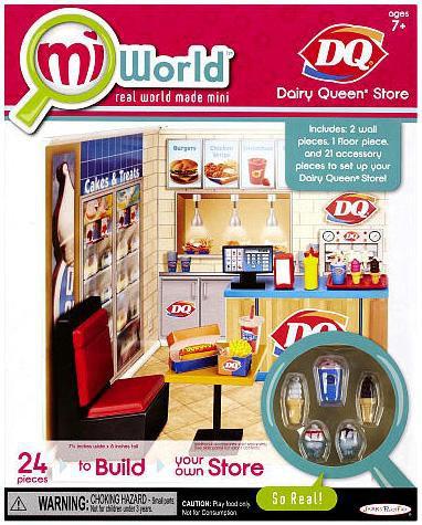 JAKKS MiWorld DQ Dairy Queen Store Playset