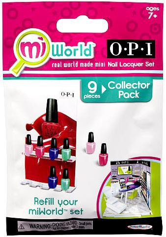 JAKKS MiWorld OPI Nail Lacquer Set Collector Pack