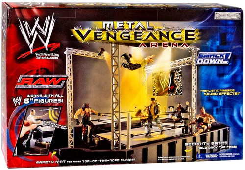 Toys R Us Wwe Rings : Wwe wrestling metal vengeance arena action figure playset